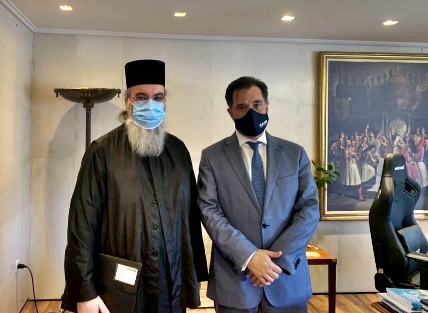 Συνάντηση Μητροπολίτου Κισάμου Αμφιλοχίου με τον Υπ. Ανάπτυξης Άδωνι Γεωργιάδη