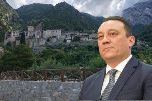 Ο Υφυπ-Εξ. Κώστας Βλάσης συνεχίζει το προσκύνημα του στο Άγιο Όρος με επισκέψεις στις Ιερές Μονές