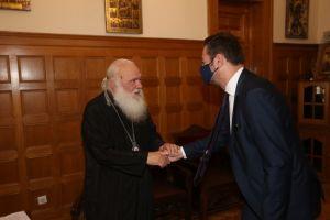 Ο πρόεδρος της Ν.Δ. Κύπρου στον Αρχιεπίσκοπο Ιερώνυμο