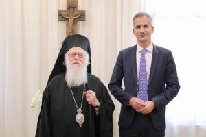 """Κώστας Μπακογιάννης: """"Ευγνώμων για τη συνάντησή μου με τον Αρχιεπίσκοπο Αναστάσιο"""""""