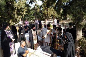 Αίγινα: Ο Υδρας Εφραίμ στην Εξόδιο Ακολουθία της μακαριστής μοναχής Παρθενίας