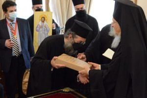 Ο Ρεθύμνης Ευγένιος εκπροσώπησε την Ιεραρχία της Κρήτης στα Ονομαστήρια του Πατριάρχη και το αίτημα Αγιοκατάταξης του π. Ευμενίου Σαριδάκη