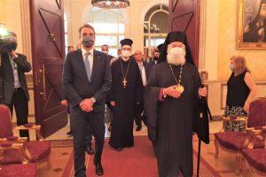 Τον Μεγαλόσταυρο του Αποστόλου Μάρκου απένειμε στον Πρωθυπουργό Κυριάκο Μητσοτάκη ο Πατριάρχης Αλεξανδρείας