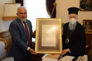 Ο Πρόεδρος της Τουρκικής Ερυθράς Ημισελήνου στον Οικουμενικό Πατριάρχη