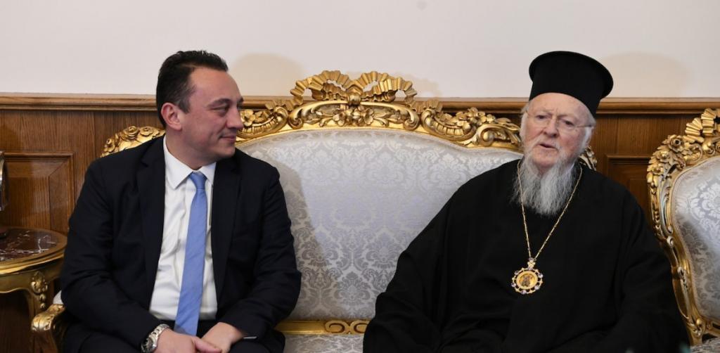 Στο Φανάρι ο ΥΦΥΠΕΞ Κωνσταντίνος Βλάσης για τα Ονομαστήρια του Βαρθολομαίου