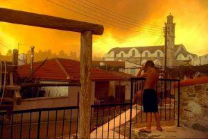 Πύρινη Κόλαση στην Κύπρο- Στο πλευρό των πληγέντων η Εκκλησία