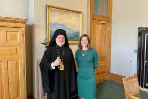 O Αρχιεπίσκοπος Αμερικής στην δήμαρχο του Σολτ Λέικ Σίτι