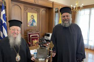 Τον Παναγιώτατο Μητροπολίτη Θεσσαλονίκης επισκέφθηκε ο Τρίκκης και Σταγών Χρυσόστομος