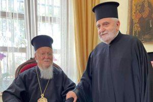 Ευχές Μητροπολίτη Γέροντος Δέρκων στον Οικουμενικό Πατριάρχη