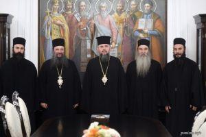 Συνάντηση του Ουκρανίας Επιφανίου με τον Ηγούμενο της Μονής Παντοκρατορος Γαβριήλ και Αγιορείτες Πατέρες