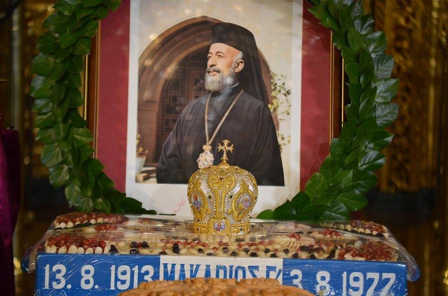 You are currently viewing Η Κύπρος τίμησε τον Εθνάρχη Αρχιεπίσκοπο Μακάριο Γ´ – ✔️Μεγαλοπρεπές μνημόσυνο στη Μονή Κύκκου χωρίς την παρουσία του Αρχιεπισκόπου Χρυσοστόμου