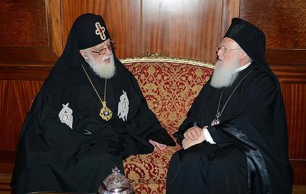 You are currently viewing Ευχές του Οικουμενικού Πατριάρχη στον Πατριάρχη Γεωργίας