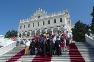 Προσκύνημα νέων της Ι.Μ. Κίτρους στην Ιερά Νήσο Τήνο με τον Ποιμενάρχη τους