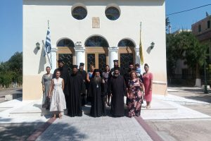 Ο Σεβ. Χίου Μάρκος  με τους νέους Κληρικούς και τις Πρεσβυτέρες