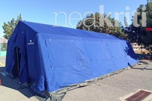 ΣΕΙΣΜΟΣ: Στήνονται οι σκηνές στο Αρκαλοχώρι