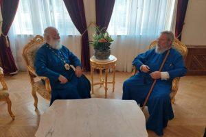 Ο Πατριάρχης  Αλεξανδρείας συναντήθηκε με τον Αρχιεπίσκοπο  Κύπρου, τον Πρέσβη της Αιγύπτου και τον Υπ. Παιδείας Κύπρου