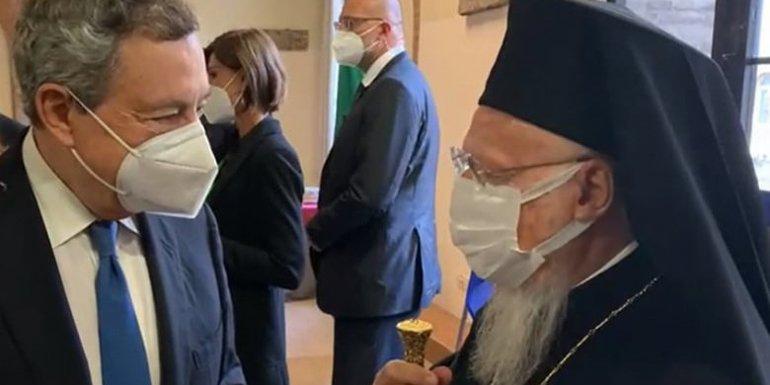 You are currently viewing Συνάντηση του Οικουμενικού Πατριάρχη με τον Πρωθυπουργό της Ιταλίας