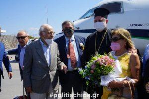 O Αμερικής Ελπιδοφόρος στα πάτρια εδάφη των προγόνων του στη Χίο