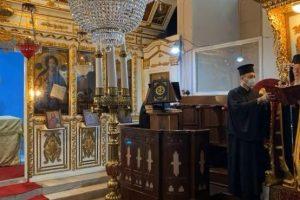 Ο Πατριάρχης στον Ι. Ναό Γενεθλίων της Θεοτόκου Παλαιού Μπάνιου