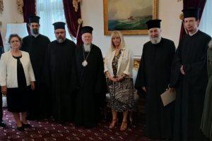 Επίσκεψη στελεχών και συνεργατών της  Ι. Μητροπόλεως  Σμύρνης εις τον Οικουμενικό Πατριάρχη