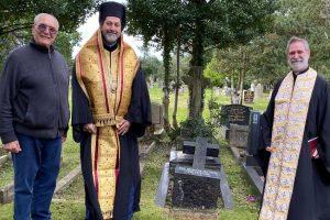Τρισάγιο στον τάφο του μακαριστού π. Γενναδίου Θέμελη