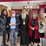 Η Μαργαρίτα Θεοδωράκη επισκέφθηκε τον Σεβασμιώτατο Μητροπολίτη Πειραιώς κ.Σεραφείμ.