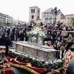 Και με την παρουσία πιστών η λιτανεία του Αγίου Δημητρίου Θεσσαλονίκης